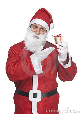 Santa Claus with ittle gift