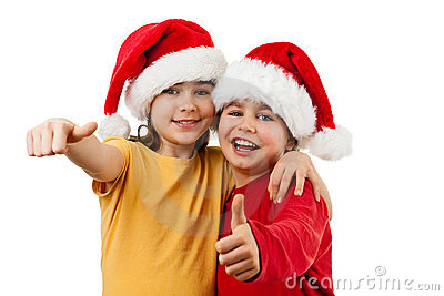 Santa Claus kids - Ok sign