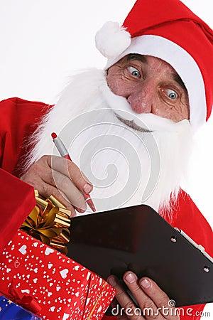 Santa Claus with list