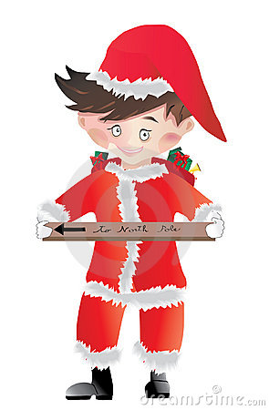 Santa Claus little boy vector