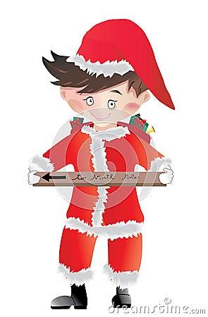 Santa Claus little boy vector