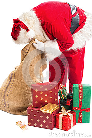 Santa Claus looking for a gift
