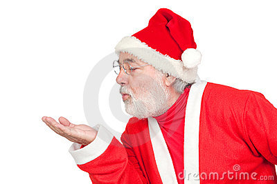 Santa Claus Magically Blowing Stock Photo - Image: 16057440