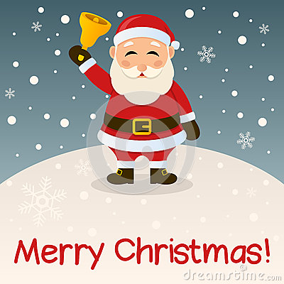 Free Santa Claus Merry Christmas Card Stock Image - 35098861