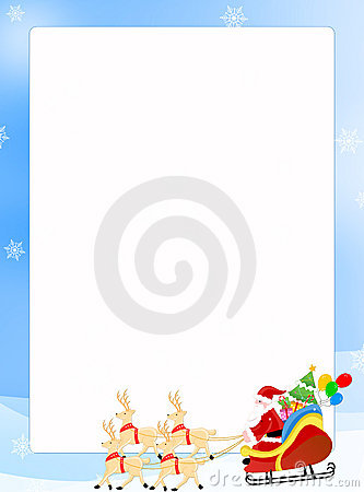 Free Santa Claus On A Sledge Border Stock Images - 6796754