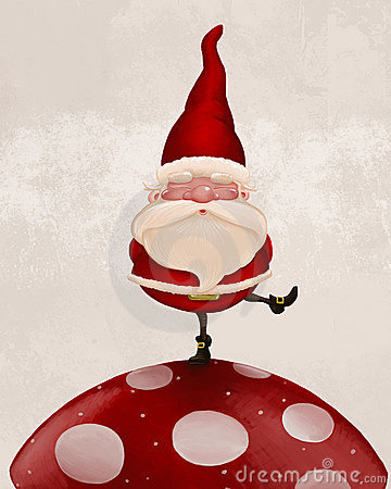 Free Santa Claus On Fungus Royalty Free Stock Image - 21943466