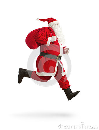 Free Santa Claus On The Run Stock Photo - 27884810