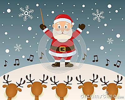 Santa Claus Orchestra Leader