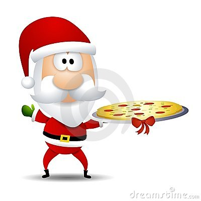 Free Santa Claus Pizza Platter Royalty Free Stock Photo - 7360205