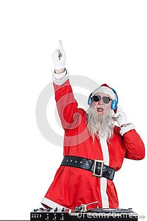 Free Santa Claus Playing A Dj Royalty Free Stock Photo - 80253835