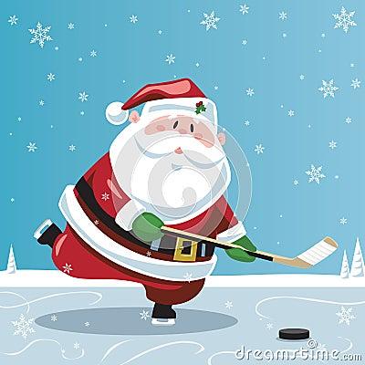 Santa Claus Playing Hockey Royalty Free Stock Photography - Image ...