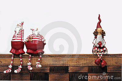 Santa Claus and puppet