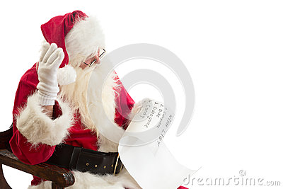 Santa Claus receives a wish list