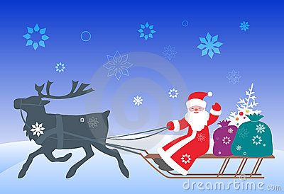 Santa Claus and reindeer - 2