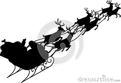 Santa Claus & Reindeer Sleigh