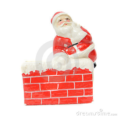 Free Santa Claus Resting On A Chimney Stock Photo - 11897020