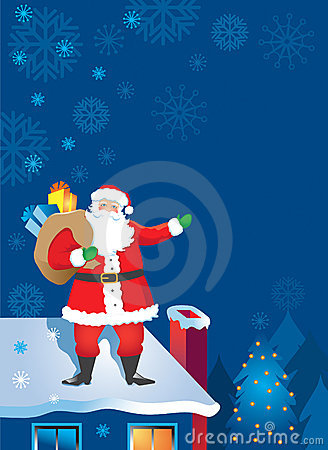 write a letter to santa santa claus on the rooftop royalty free stock photos 1747