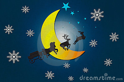 Santa Claus s animal with Moon