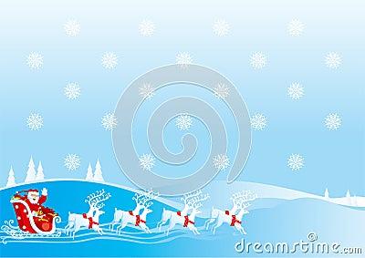 Santa Clauss sledge