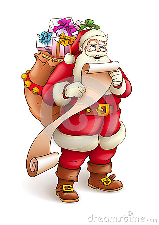 Santa Claus with sack full of gifts