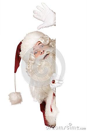Santa claus saying hello