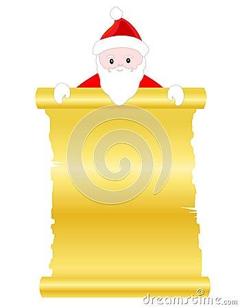 Santa claus scroll paper