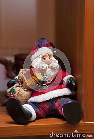 Santa claus on the shelf