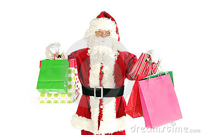 Santa claus shopping
