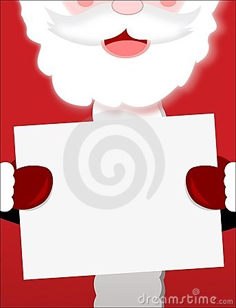 Santa Claus Sign Closeup
