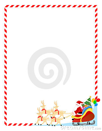 Santa claus on a sledge border