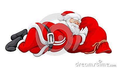 Santa Claus Sleeping