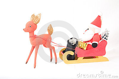 Santa Claus Sleigh and Reindeer