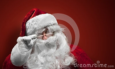 Santa Claus smiling face