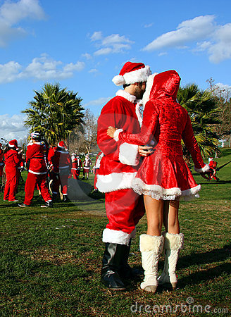 Santa Claus and Snow Maiden Editorial Stock Image