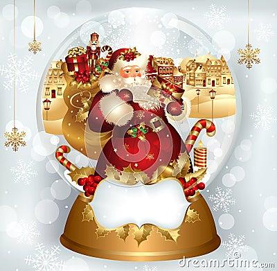 Santa Claus in snowglobe