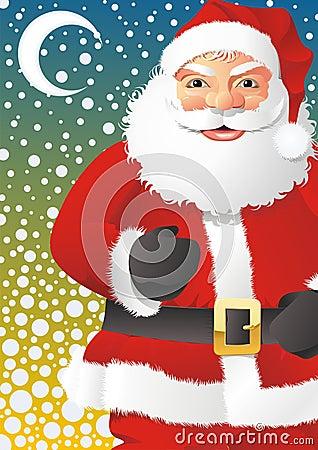 Santa Claus in snowing hight
