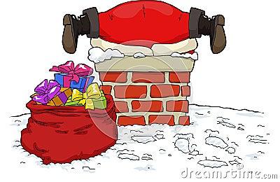 Santa Claus stuck