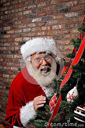 Santa Claus Surprised