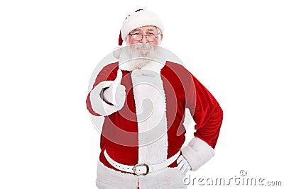 Santa Claus with thumb-up