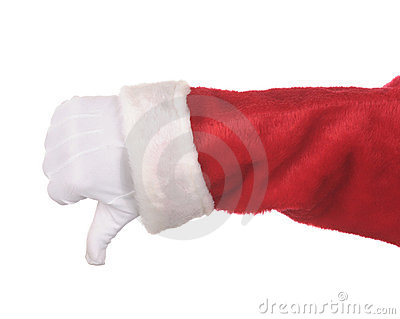 Santa Claus Thumbs Down