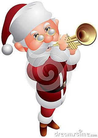 Santa Claus Trumpeter Christmas Musician