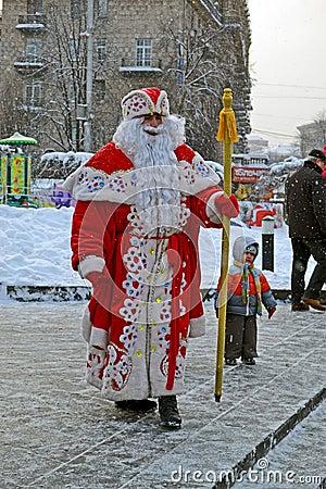 Santa Claus with white beard, Christmas, Editorial Stock Photo