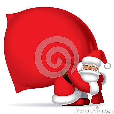 Free Santa Claus With Sack Stock Image - 21821691