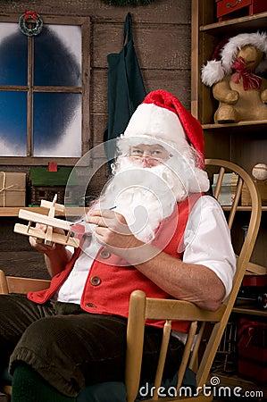 Santa Claus in Workshop