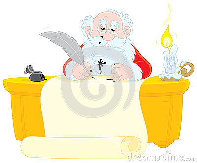 Santa Claus writes