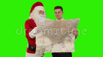 Santa Claus And Young Businessman Shaking Hands, Green Screen ...young models video