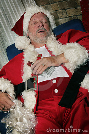 Santa Clause sleeps