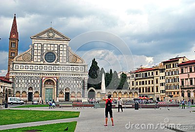Santa Croce church, Florence Editorial Photography