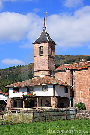 Santa Cruz church in Elbete (Navarra, Spain)