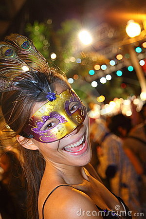 Santa Cruz de Tenerife Carnival: Party Editorial Photography
